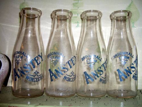 Old milk bottles